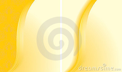 Two abstract yellow backgrounds for cards