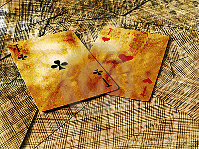 Two aces on inverted cards