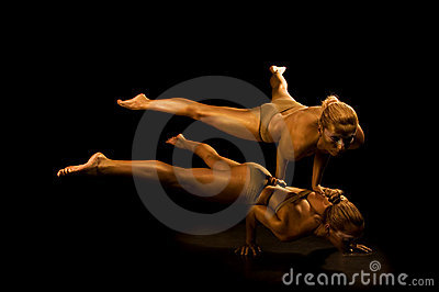 Two acrobatic girl
