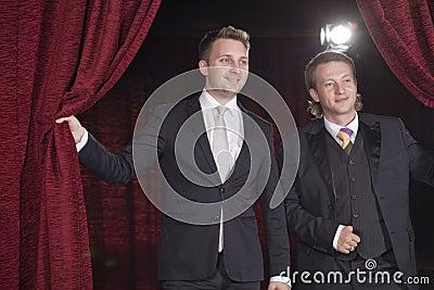 Two actors in spotlight