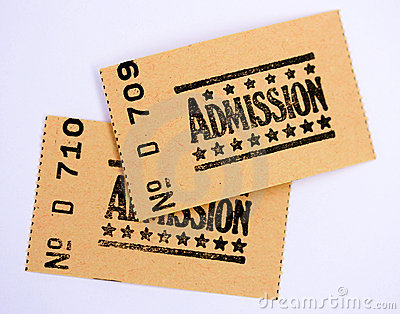 Two admission tickets