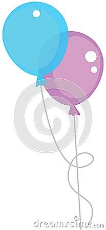 Free Two Air Balloons Stock Photos - 54833463