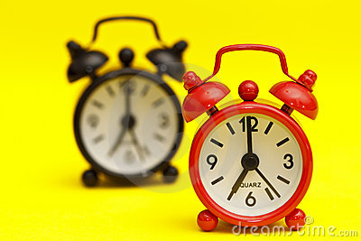 Two alarm clocks