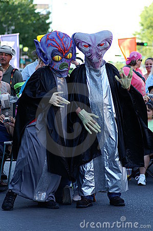 Two Aliens Playing Editorial Image