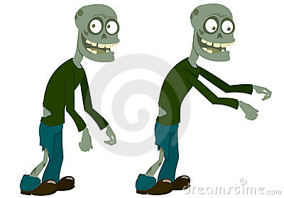 Two amusing zombies
