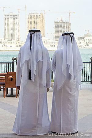 Free Two Anonymous Arab Men & Construction Buidings Royalty Free Stock Photos - 13570178