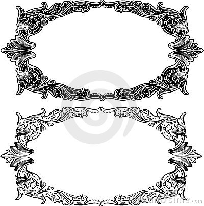 Two Antique Frame Engraving