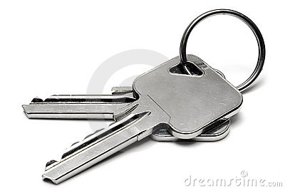 Two Apartment Keys w/ Ring