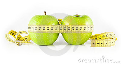 Two apple and meter