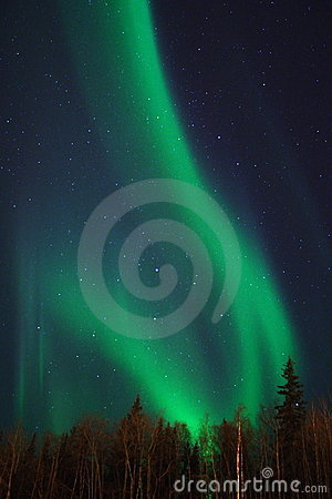 Free Two Arcs Of Aurora Royalty Free Stock Photography - 396707