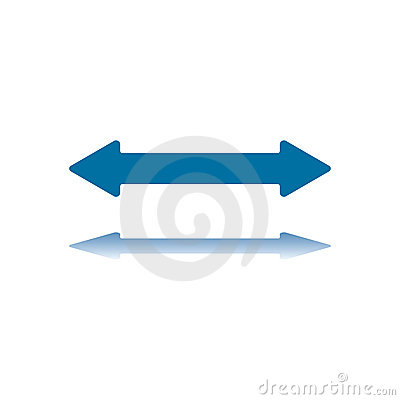 Two Arrowhead Horizontal Arrow