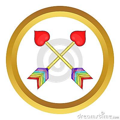 Two arrows LGBT vector icon Vector Illustration