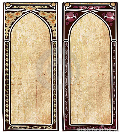 Two art nouveau frames