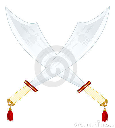 Two Asian Swords Royalty Free Stock Photography - Image: 12120467