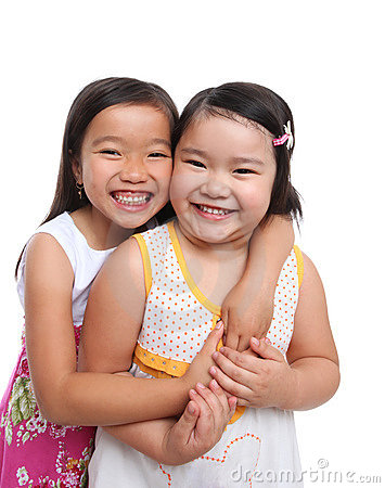 Two Asian Young Sisters Royalty Free Stock Photography - Image: 19944587