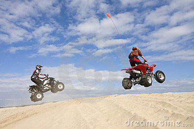 Two atv jumpers