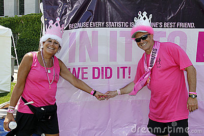 Two Avon Cancer walk participants Editorial Image