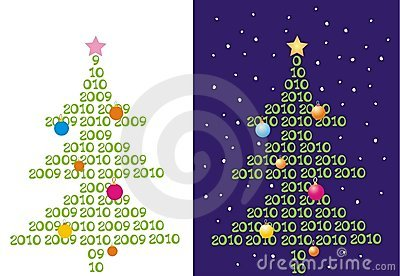 Two backgrounds with abstract christmas-trees.