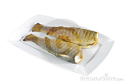 Two baked trout