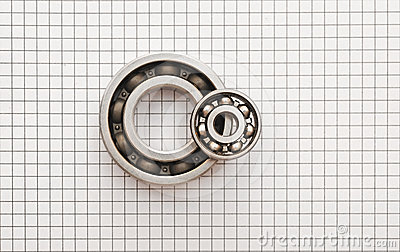 Two ball bearings