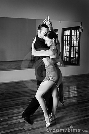 Free Two Ballroom Dancers Practicing Royalty Free Stock Photo - 3016715