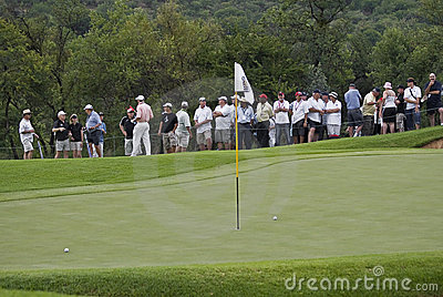 Two Balls on the Green, with Flag Pole Editorial Image