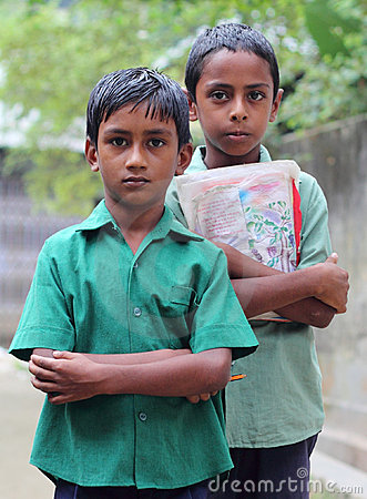 Two Bangladeshi schoolboys Editorial Image