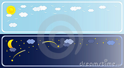 Two banner of sky