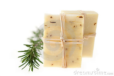 Two Bars of Natural Rosemary Soap