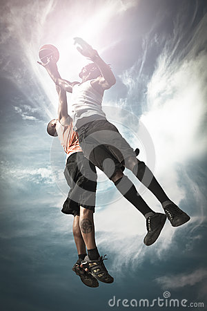 Free Two Basketball Player Royalty Free Stock Photos - 31591028