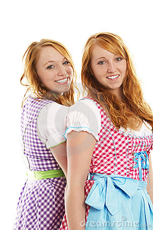 Two bavarian dressed girls
