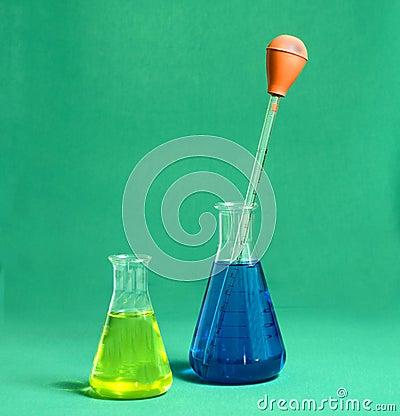 Two beakers