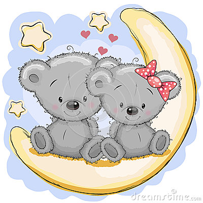 Free Two Bears On The Moon Stock Photos - 61112693