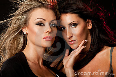 Two beauties blond and brunette