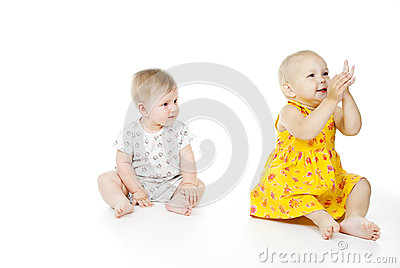 Two beautiful children a girl