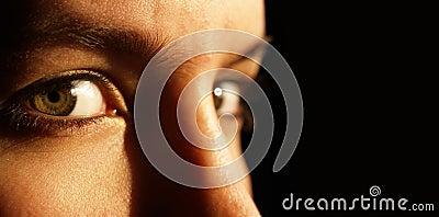 Two beautiful green eyes