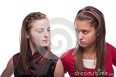 Two beautiful young teenage girls