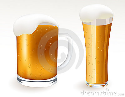 Two beer glasses