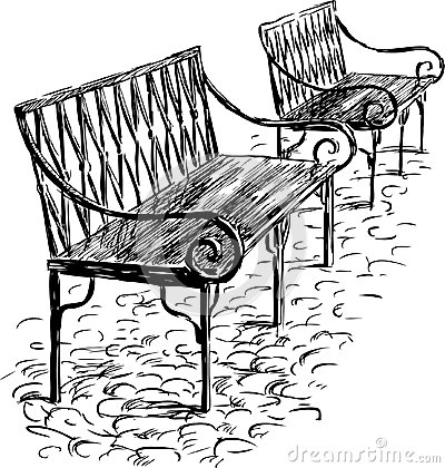 Free Two Benches Royalty Free Stock Photo - 27687205