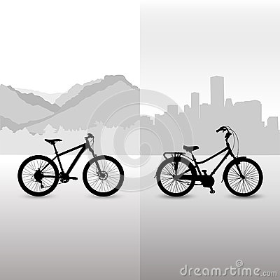Two bicycle