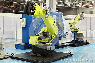 Two big robots for automotive industry