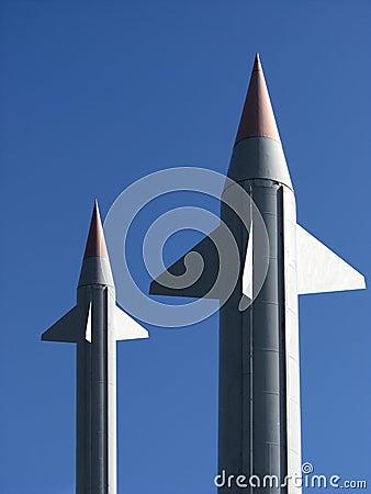 Two big rockets