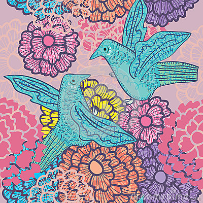 Two Birds Meet Seamless Pattern_eps