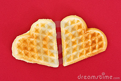 Two biscuit hearts