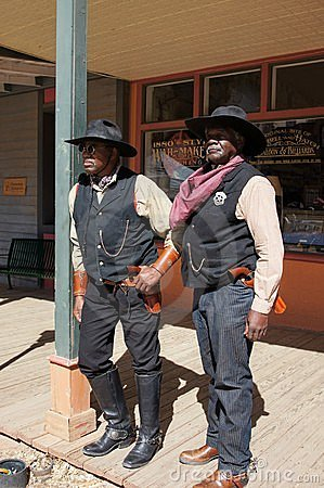 Two Black Lawmen in Tombstone Arizona Editorial Image