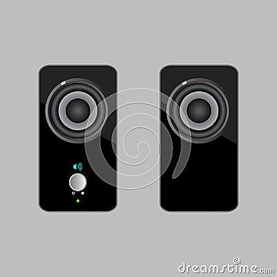 Two black speakers.