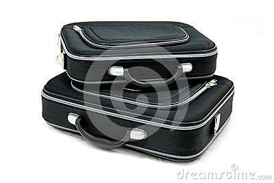 Two black suitcases
