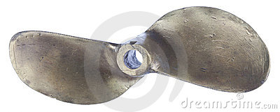 Two-blade boat propeller, made of brass