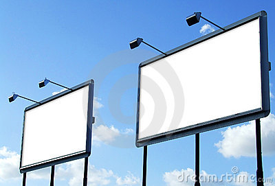 Two blank Billboard