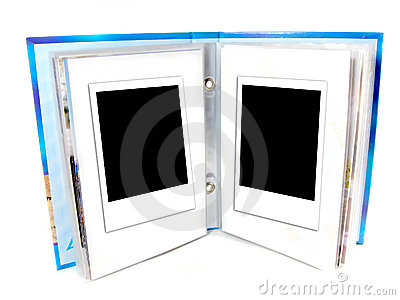 Two blank instant photo frame
